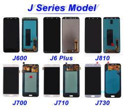 Samsung J1 J2 J3 J4 J5 J6 J7 J730 서비스 팩 LCD를 위한 이동 전화 LCD 스크린 수리부품 전화 부속품