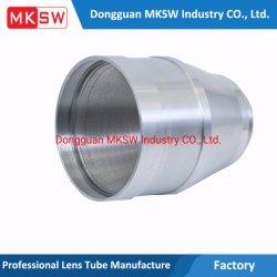 CNC van de Cilinder van de Adapter van de Lens van de camera Zwart Geanodiseerd Optisch Scherp Centrum dat Delen machinaal bewerkt