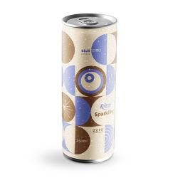 شراب عصير التوت الكربونات 250 مل معبأ