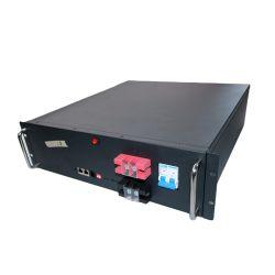 Communication de la station de base 3U 19 pouces de sauvegarde Telecom Batterie LiFePO4 48V 50Ah19pouces pour l'énergie solaire de stockage en rack 3u 5u protocole RS485 48V 51.2V 12V