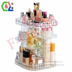 Bijoux de l'Organiseur de maquillage et cosmétiques, brosses, de stockage de palettes, rouges à lèvres afficher la boîte de rangement