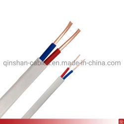 BS6004 6192y 2core 1.0mm 1.5mm 2core 2core 2.5mm PVC câblage électrique de surface de cuivre Twin câble plat