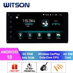 Radio automatica GPS dell'automobile del Android 10 per schermo istantaneo universale di RAM 4GB 64GB di Toyota il grande in lettore DVD dell'automobile