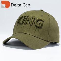 Kundenspezifische Qualitäts-bedeckt neuer Form-Sprung-BaumwollePolyster 3D Stickerei-Ära-Sport Golf-Baseball-Hut mit einer Kappe