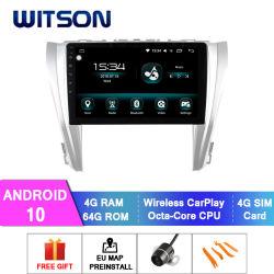 Autoradio dello schermo di tocco del Android 10 di Witson GPS per schermo istantaneo 2015-2017 di RAM 64GB di Toyota Camry 4GB il grande in lettore DVD dell'automobile