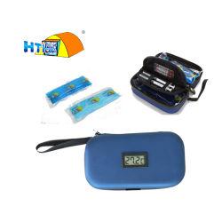 Портативный диабетическое питание системы хранения данных на дисплее температуры охладителя с помощью подушек безопасности
