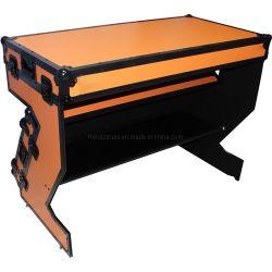 Faltbare z-Form DJ legen Flightcase Schreibtisch-Zahnstangen-Kasten ver