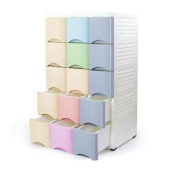 Alta calidad de Armario de almacenamiento de plástico barato para la ropa