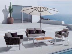 Aluminium Rahmen Seil Seil Rund Sofa Set Hohe Qualität Neu Ankunft Freizeit Special Tude Aluminium Seil Garten Terrasse Sofa-Set Rattan Gartenmöbel