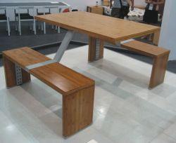 أثاث طاولة مقصف مطعم بامبو ملتصق