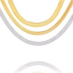 Mode Bijoux en acier inoxydable 316L d'accessoires de hareng Neckalce osseuse pour les hommes