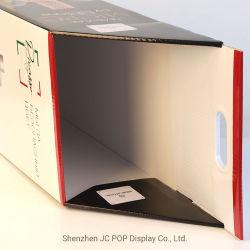 De handel toont Groen Vierkant Karton met Vakje van het Wiel van het Karretje van het Karton van het Handvat het Vouwbare Pop, de Zak van de Reclame van het Document