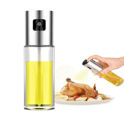 Dispensador de pulverizador de óleo da Amazônia, Azeite Pulverizador, garrafa de spray de óleo em spray de vidro versáteis vinagre vaso de azeite para cozinhar