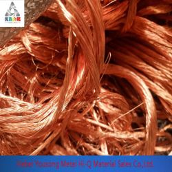 99,95% 99,99% de pureté du fil de cuivre cuivre brillant nu/Rebut