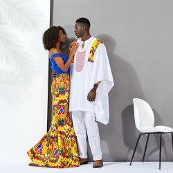 Haut de la vente de l'Afrique hommes Hommes de nouvelle conception de vêtements à manches longues pour fonction de couple