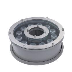 مصباح LED Fountain Light RGB الجيد من الألومنيوم المصبوب القابل للغمر IP68 لون تغيير ضوء حلقة الفوهة تحت الماء مع الموسيقى