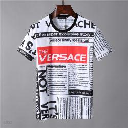 새로운 짧은 소매 t-셔츠 남성 면은 대중적인 로고 짧은 소매를 가진 느슨한 형식 캐주얼 셔츠의 안감이 없는 위 의복을 만든다