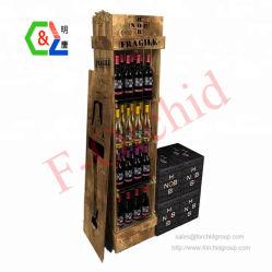 Suelos personalizados Tienda de vinos de Nivel 4 botella de vino de Madera Soporte de pantalla