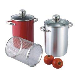 Juego de ollas de aluminio de espárragos con Basketfor vaporizador ollas de cocina