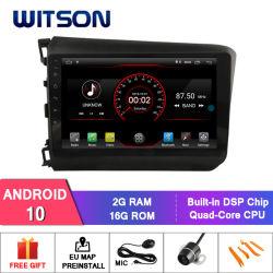 """Auto DVD des Witson 9 """" grosses Bildschirmandroid-10 für Honda Civic niedriges 2012-2014 (LHD)"""