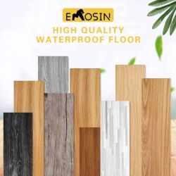 Los materiales de construcción barata de vinilo o plástico laminado de madera/PVC/madera/SPC/LVT/Laminado de madera//diseñado/WPC/Bambú/mármol o mosaico/caucho haga clic en piso de parqué flotante