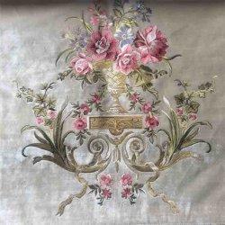 De terciopelo bordado La tela de cortina y sofá