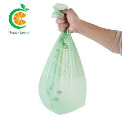 EU En13432/ASTM - D6400 인증 100% 생분해성 플라스틱 백 옥수수 녹말 PLA 플라스틱 가방 콤포즈블 13갤런 쓰레기/쓰레기 가방 폴리 백 바이오 커버 가방