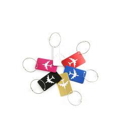 金属アルミニウム紙を使用したカスタムメイドの環境に優しいトラベルスーツケース 名前カードのラゲッジタグ