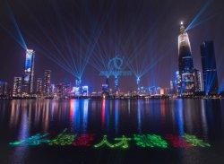 DJ Disco scène rave de plein air avec certificat CE de lumière laser RVB