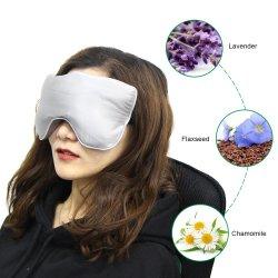 Настроить взвешенное микроволновая печь с сиреневыми вставками Flaxseed природных спокойный сон глаза подушки