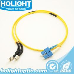45/90 degré en fibre optique ST/SC du câble de raccordement pour les centres de données