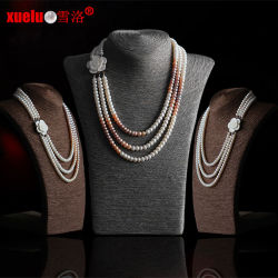 3 brins Fashion dernière conception Collier de perles d'eau douce (E130091)