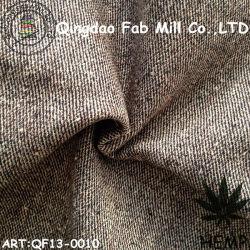 O cânhamo/tecido tingidos de fio de algodão orgânico (QF13-0010)
