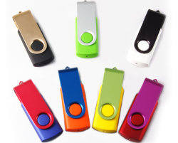 Lecteur Flash USB pivotant promotionnel, 2g Twist pen drive lecteur Flash USB,