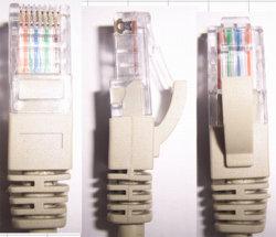كبل توصيل بدون تعليق من نوع Cat5e/CAT6 (من نوع Mold C)