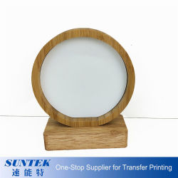 Rundes Sublimation-Foto-Panel, Bambussublimation-Foto-Rahmen, Hersteller-Sublimation-Leerzeichen-Foto-Rahmen