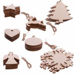 模倣された木製のクリスマスの吊り下げ式の家のハングのギフト及び装飾