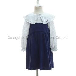 Puritan col chemise avec sangle de spaghetti robes monobloc sans manches pour les filles