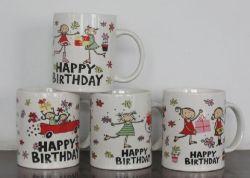 11oz 맞춤형 인쇄 데칼 프로모션 세라믹 머그잔 세사널 커피 머그잔 맞춤형 로고 사용