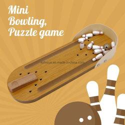 Jogo de Bowling Mini de madeira, mini-Melhor jogo interativo para crianças e adultos, Puzzle Pai-filho Tabela Interativa brinquedo14461 ESG
