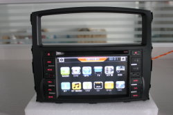 Isun Car DVD Player for Mitsubishi Pajero with Rockford Audio System Supported