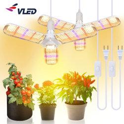 Складные завод лампа сочными цветами зеленные овощные выбросов парниковых газов в помещениях полный спектр светодиодный индикатор роста