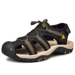 Homens Sandálias Pesado as sandálias de couro Tampa Toe Anticolisão respirável Sandálias Anti-Skid confortável viagem casual ao ar livre de condução off-road caminhadas a ESG14137