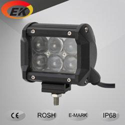 Heiße Verkaufs-Qualität 3W verdoppeln heller Stab der Reihen-4D des Objektiv-4inch 18watt LED für nicht für den Straßenverkehr LKWas, Jeep, SUV
