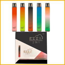2021 Heißer Verkauf Dual Vape Ezzy Dual Aromen & Mix Farben 2in1 Einweg-Verdampfer mit guten Mix-Aromen