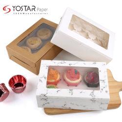 Biodégradable 2021 Nouveau Macaron d'impression dessert Moon Cup Cake Food Emballage de la boîte en papier cadeau