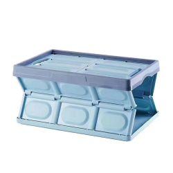 casse pieganti di memoria del polipropilene 55-Liter, contenitore pieghevole di plastica