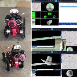 3D Point Cloud Detect Optical Images Panoramo Camera with Laser Leitor de criação de perfil