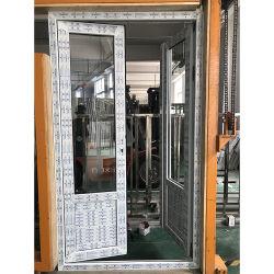 Perfil de PVC de alta calidad salto térmico Casement ventana de PVC doble inicio colgado Casement Windows