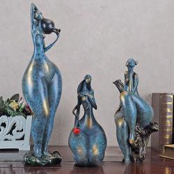 Venta caliente estilo europeo personalizada Resumen gran culo de la mujer Arte Artesanía de resina